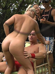 Out in the sun they get into a steaming hot crazy gangbang pics