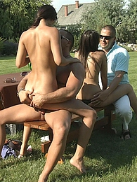 This picnic has turned into a wild an hot amazing gangbang pictures
