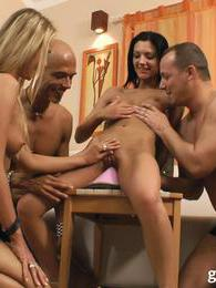 These couples have hardcore group sex with happy endings pictures at kilovideos.com