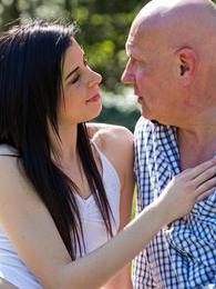 Getting sex lessons from an old guy and she loves it all pictures at find-best-panties.com