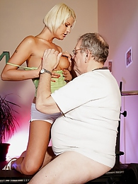 A sporty sweetheart shagging a horny old senior hardcore pictures at lingerie-mania.com