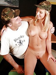 Horny senior soldier gets dirty with his stunning sergeant pictures at adspics.com