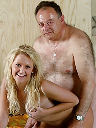Teen washing old man his car before she gets fucked by him pictures at lingerie-mania.com