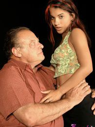 Tiny exotic beauty gets stuffed hard by a dirty old grandpa pictures at kilomatures.com