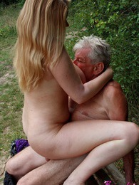 Peeking at enormous breasts on hot blonde brings senior sex pictures at kilosex.com