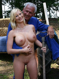 Busty blonde beauty enjoys his stiff older cock inside her pictures at adspics.com