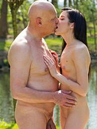 This picnic got out of hand when he starting licking her pictures at freekiloporn.com