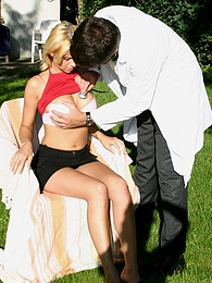 Big boobed blonde beauty fucked hard by a male boob doctor pictures at kilosex.com