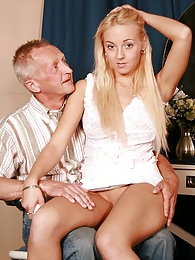 Babe riding a senior hairdresser his big experienced rod pictures at kilosex.com