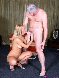 Two blonde beauties sharing two seniors their stiff cocks pictures at adspics.com