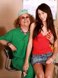 Naughty teenage babe riding a senior doctor his erection pictures at freekiloclips.com
