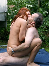 Redhead beauty enjoys an experienced penis inside her slit pictures at kilotop.com