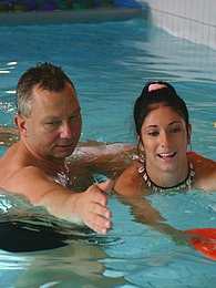Brunette teenage beauty fucked by a horny swim teaching paps pictures at adspics.com