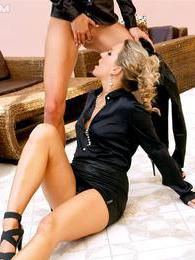 Sultry hot well dressed lesbians kiss and touch and piss pictures