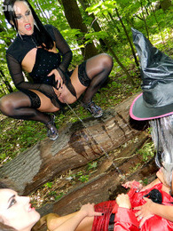 A horny group of weird chicks peeing in the scary woods pictures at find-best-videos.com