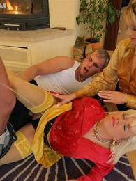 They get not only fucked but also get a hot golden shower pictures at freekilopics.com