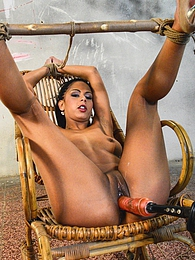 Gagged tall slave beauty Isabella gets nipples tortured pictures at kilogirls.com