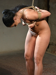 Slave Clair gets chair tied and cleavegagged by her master pics
