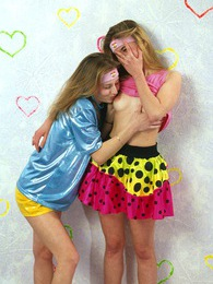 Two handsome lesbian teenagers sharing their wet snatches pictures at kilogirls.com