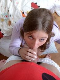 Teen chick enjoying his solid schlong in her tight muff pictures