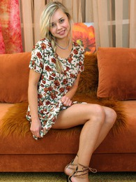 A teenage cutie enjoys stroking her perfect body all over pictures at kilovideos.com