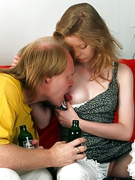 Attractive nude redhead loves banging a much older senior pictures at kilovideos.com