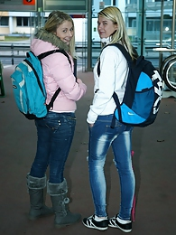 Two horny teenage chicks met on the train start fucking pictures at dailyadult.info