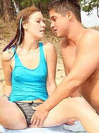 Horny dude nailing a very hot teenage diver on the beach pictures at find-best-panties.com