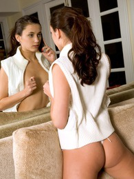 Angelic teenage brunette stroking her young tight snatch pictures at lingerie-mania.com