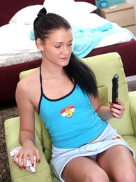 Television watching teenage sweetie pleasuring her cooch pictures at sgirls.net