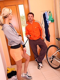 A bike rider fucking a hot teenage running babe hardcore pictures at kilogirls.com