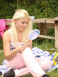 An untainted blonde caressing her soaked teenage snatch pictures at sgirls.net