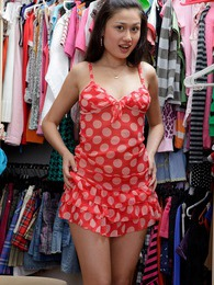 Cute clothes shopping sweetheart rubs her damp clitoris pictures at lingerie-mania.com