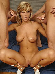 Young willing sweetie fucked by two stiff cocks hardcore pictures