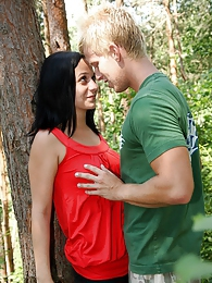 Willing and sexy biking teen fucked hardcore in the forest pictures at freekilomovies.com