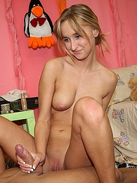 A handsome teenage sweetie banged hardcore in her own bed pictures at freekiloclips.com