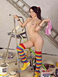 A hot painting teenager brushing her wet snatch sexually pictures at find-best-tits.com