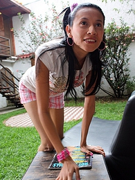 Horny hot chick fucking a gardener in the garden hardcore pictures
