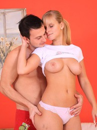 Hot teenage chick banged by her horny boyfriend in bedroom pictures at freekilosex.com