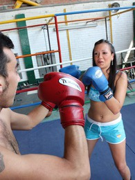 Very sexy boxing chick fucking her horny opponent hardcore pictures at freekiloporn.com