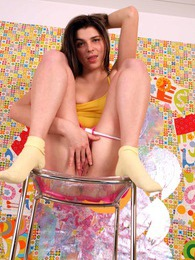 Brunette teenie goes naked for the first time on camera pictures at freekiloclips.com