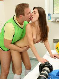 He won the game so she gives him a real reward afterwards pictures at find-best-lingerie.com