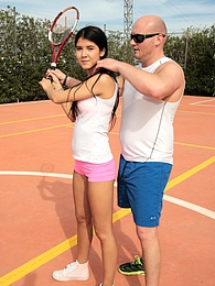 Lady D gets some deep fuck tennis lesson from her teacher pictures at adspics.com