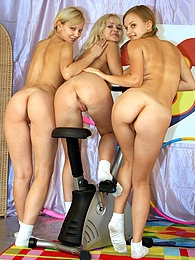 Three cute lesbian teenagers fucking eachothers tight pussy pictures at freekilomovies.com