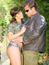 Teenage army girl enjoys getting dirty with cock outdoor pictures at kilosex.com