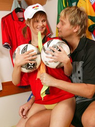 German teenage girl enjoys referee cock in a lockerroom pictures at kilovideos.com