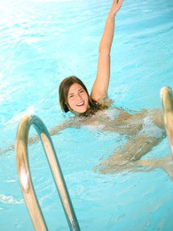 Swimming instructor bangs one of his cute teen students pictures