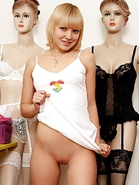 Shy eighteen years old teenie girl toying her tight pussy pictures at dailyadult.info
