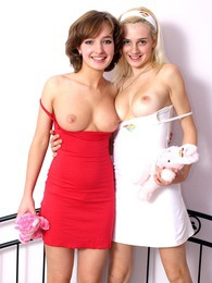 Two teenagers showing their perfect real natural boobies pictures at sgirls.net