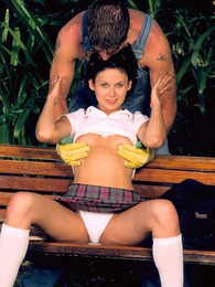 Young schoolgirl gets pussy fucked by the horny handyman pictures at kilosex.com